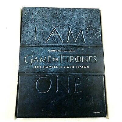 Game of Thrones: The Complete 6th Season 6 (DVD) Tv Show GOT HBO Original