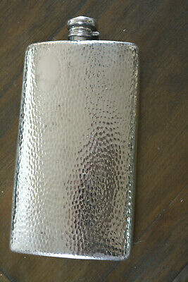 Fab Antique Large Pint Hip Flask by Meriden Silverplate Art Deco C 1920