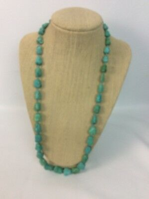 Beautiful vintage antique Chinese turquoise Nugget beads necklace