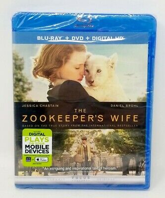 The Zookeeper's Wife - Blu-Ray+DVD+DIGITAL-NEW