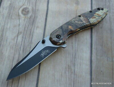 8 Inch Master Usa Spring Assisted Tactical Knife With Pocket Clip