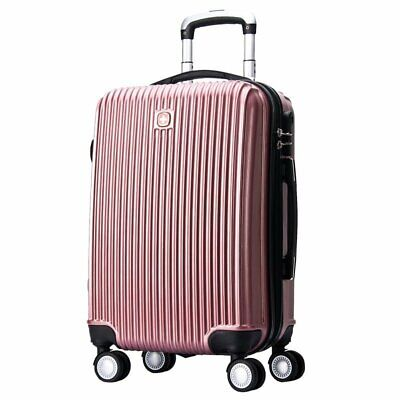 "Swissgear 24"" Luggage Suitcase 65L Hard Shell Combination Locks Rose Gold"