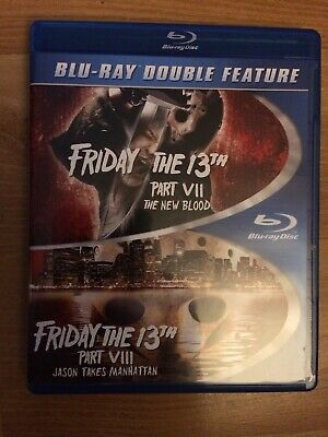 Friday The 13th Part 7+8 New Blood Jason Takes Manhattan Double Feature Blu Ray