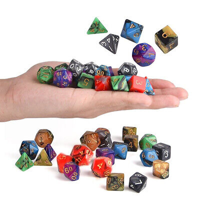 42Pcs 6 Colors Acrylic Mulitisided Dice Ensembles Role Playing Game Dice Gadget