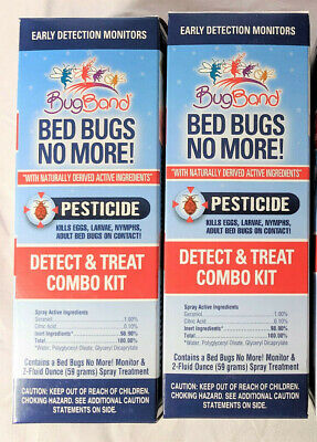 2 Bug Band Bed Bugs No More Kills Eggs Larvae Nymphs Adult Bed Bugs