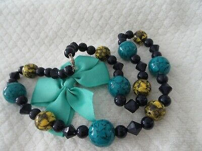 Stunning  Vintage   Unusual Beads/ Necklace, So Pretty !