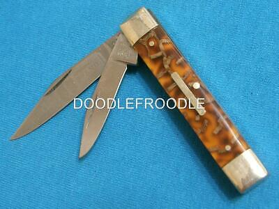 Vintage Bulldog Solingen Germany Duck Feather Trapper Straight Jack Knife Knives