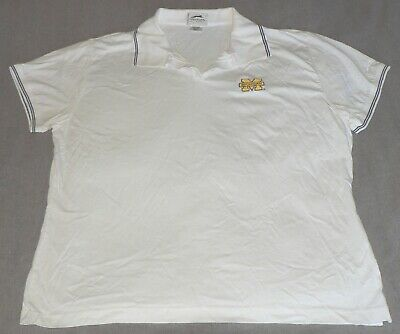 1088dee1d5 MICHIGAN WOLVERINES Women's Large White Embroidered SS SLAZENGER Polo Shirt  EUC