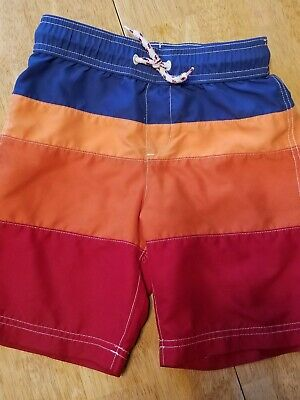 d7905872bd4fa Lands End Boys Swim Trunks Bathing Suit EUC big boys size small 8 Blue  OrangeRed