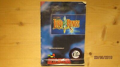 Lord of the Rings Nintendo SNES Instruction Manual Booklet
