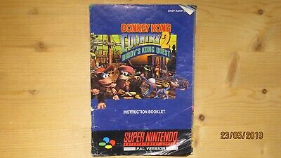 Donkey Kong Country 2 Nintendo SNES Instruction Manual Booklet