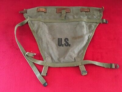 WW2 US Army Haversack M1928 Pack Tail Piece Carrier Diaper Dated 1942
