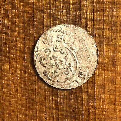Authentic Medieval European Silver Coin Middle Ages Artifact Token Medal Rare H