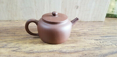 Chinese Yixing Zisha Clay Teapot With Simple Design