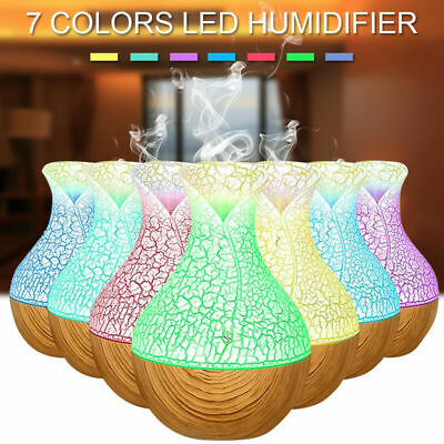 7 Colors Air Humidifier Purifier Essential Oil Diffuser Aroma Aromatherapy Lamp