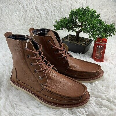 b6c8461b3e0 TOMS MEN'S SEARCHER Boots Chocolate Brown Full Grain Leather Ankle ...