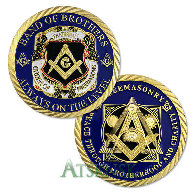 Masonic Collectible Order of Freemason Brotherhood Grand Lodge Gift Coin