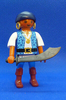 Playmobil PU-8 Man Figure Naval Soldier Pirates Action Adventure Blue Coat
