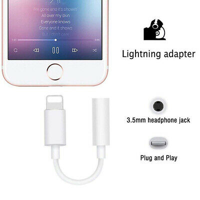Fit iPhone 7 8 X XR Headphone Adapter Lightning to 3.5mm Cord Jack Portable Lot