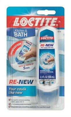 Loctite  Re-New  White  Siloxane  Caulk Sealant  3.3 oz.