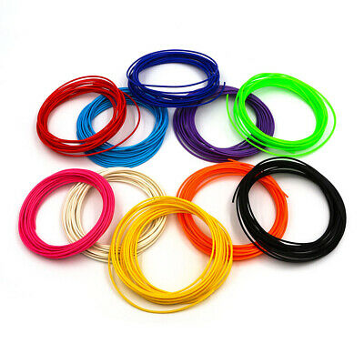 10 Colors 50/100m 3D Pen Filament PLA 1.75mm Plastic Rubber Printing Filaments