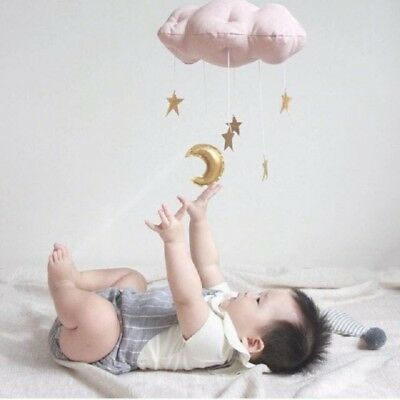 Lovely Baby Mobile Cotton Moon And Star Hanging Nursery Decor Toys Nordic Style