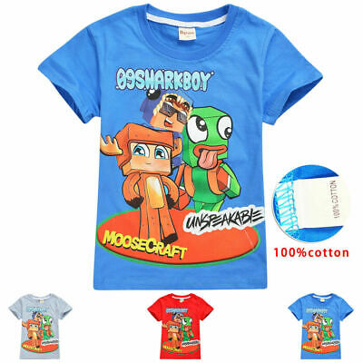 Clothes, Shoes & Accessories Cheap Sale Unspeakable Kids White T Shirt Childrens Gaming Unspeakablegaming Pancake Bot