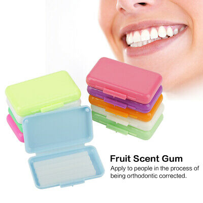 50 Packs Fruit Scent Dental Orthodontics Ortho Wax For Braces Gum Irritation Set