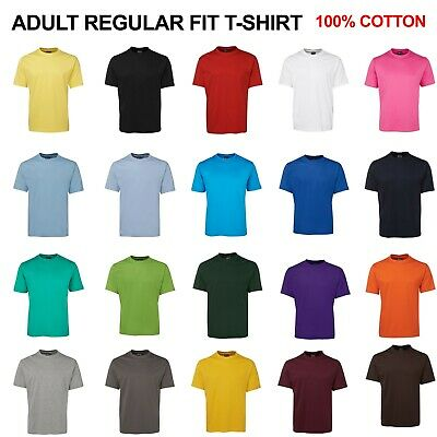 Mens Plain 100% Cotton Tee Shirt JB's TEE Adults Unisex Blank Size S-7XL 1HT