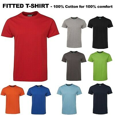 Plain 100% Cotton FITTED T Shirt JB's TEE Adults Unisex Blank Size S-3XL S1NFT