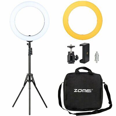 Zomei 18 Inch LED Ring Light Kits Bicolor Lighting with Stand for Photography
