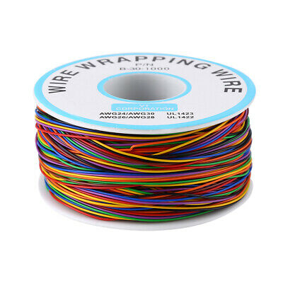 P/N B-30-1000 30AWG Tin Plated Copper 8-Wire Colored Insulation Test Wrapping GS