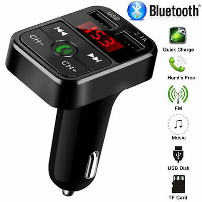Wireless FM Transmitter Bluetooth Radio Car MP3 Player Charger USB Stick Adapter