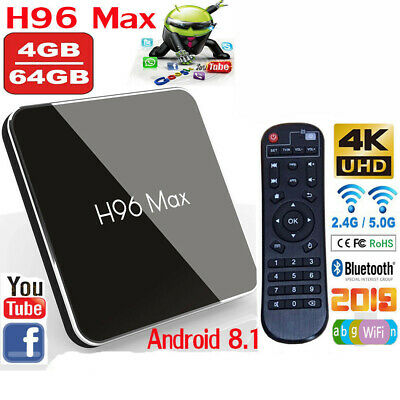 H96 Max X2 Andriod 8.1 TV BOX 4GB 64GB Amlogic S905X2 Quad Core DDR4 USB 3.0