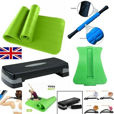 Yoga Aerobic Massage Foam Adjustable Back Cushion Support Roller Stepper Exercis
