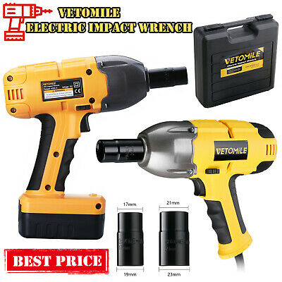 Cordless/Corded Electric Impact Wrench Gun 500/400Nm 1/2 Drive + 2*Socket & Case