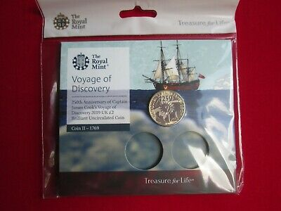 2019 Captain Cook £2 Pound Coin Brilliant Uncirculated Mint Condition