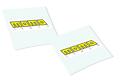 MOMO ITALY Classic Retro Car Motorcycle Decals Stickers