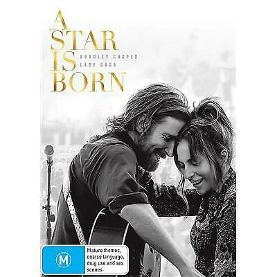 A Star is Born DVD 2019 M / Buy 1 DVD get 2nd DVD at half price!
