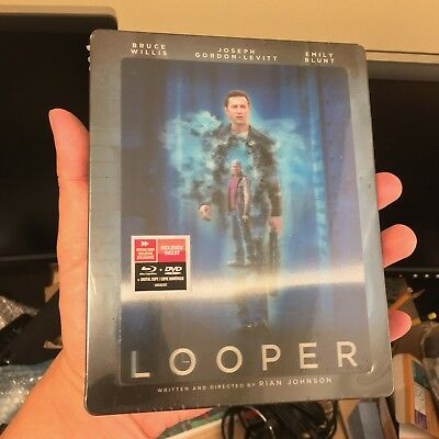 Looper lenticular Blu-ray Steelbook | Future Shop | NEW Canada | Region A locked