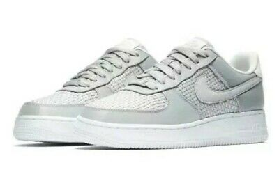 Nike Air Force 1 07 Se Atmosphere Grey White Silver Womens Trainers UK Size 3
