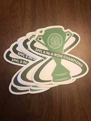 Celtic Football Club 8 In A Row Sticker