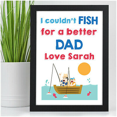 PERSONALISED Dad Fishing Gifts - Birthday Fishing Gifts for DADDY DAD GRANDAD