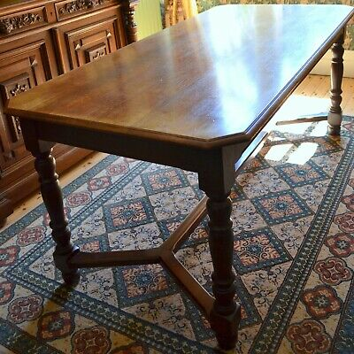 Antique Solid Oak Six-seater Dining Table