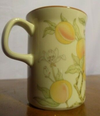 """NEW! Wedgwood """"Peach"""" Mug China from England Late Summer Cup Glass"""