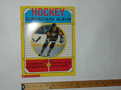 Scholastic HOCKEY SUPERSTARS ALBUM 1988 1989