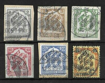 GERMANY REICH 195 Used Revenue Complete Set of 6 Michel #9-14 CV €190
