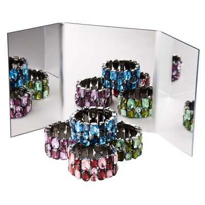 Acrylic Mirror Multiplier Free Standing Counter Jewellery/Retail/Shop Display