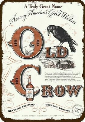 1949 Old Crow Kentucky Bourbon Whiskey Replica Metal Sign - **ask For Old Crow**