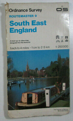Old 1988 OS Ordnance Survey 1:250 000 Routemaster Map 9 South East England